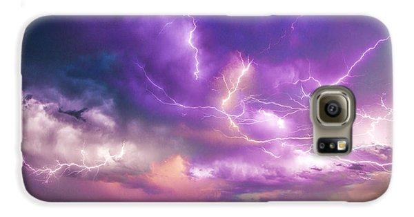 Nebraskasc Galaxy S6 Case - Chasing Nebraska Lightning 056 by NebraskaSC