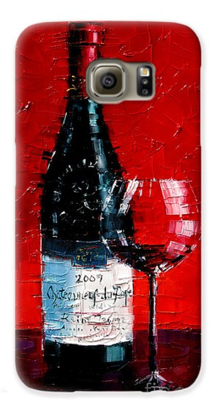 Still Life With Wine Bottle And Glass I Galaxy S6 Case