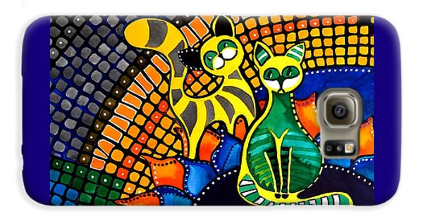 Cheer Up My Friend - Cat Art By Dora Hathazi Mendes Galaxy S6 Case