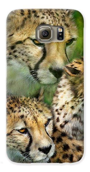 Cheetah Moods Galaxy S6 Case by Carol Cavalaris