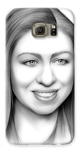 Chelsea Clinton Galaxy S6 Case by Greg Joens