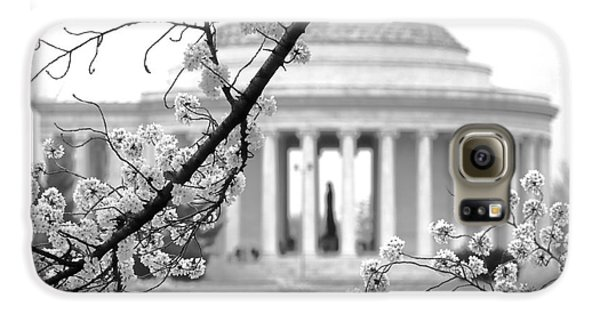 Cherry Tree And Jefferson Memorial Elegance  Galaxy S6 Case by Olivier Le Queinec