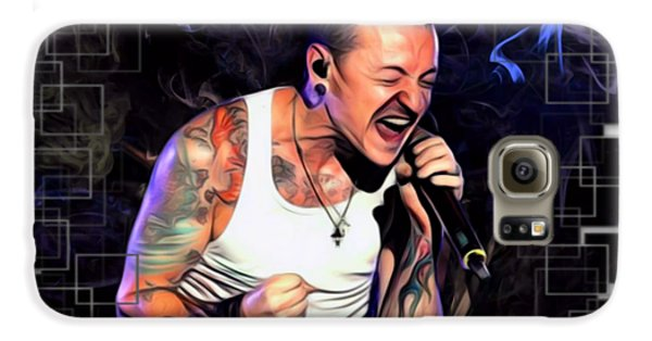 Stone Temple Pilots Galaxy S6 Case - Chester Bennington Abstract Cut  by Scott Wallace Digital Designs