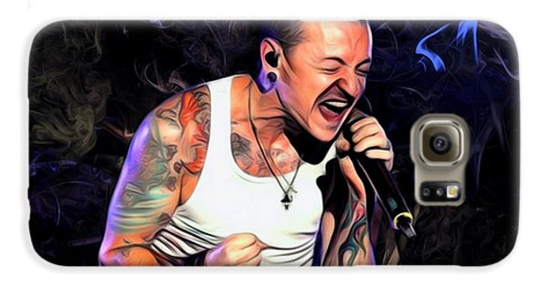 Stone Temple Pilots Galaxy S6 Case - Chester Bennington From Linkin Park  by Scott Wallace Digital Designs