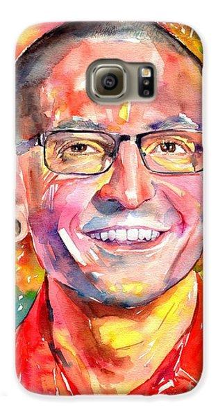 Rolling Stone Magazine Galaxy S6 Case - Chester Bennington Watercolor by Suzann's Art