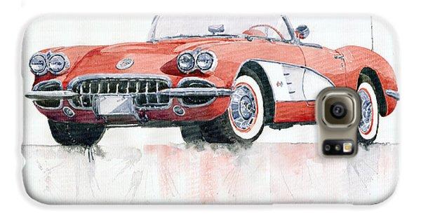 Automobile Galaxy S6 Case - Chevrolet Corvette C1 1960  by Yuriy Shevchuk