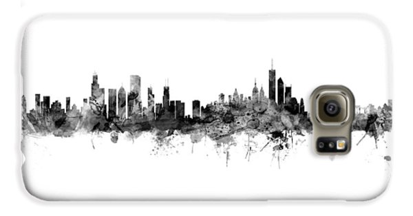 New York City Skyline Galaxy S6 Case - Chicago And New York City Skylines Mashup by Michael Tompsett