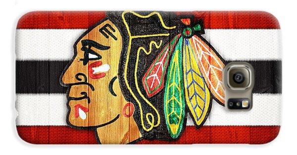 Chicago Blackhawks Barn Door Galaxy S6 Case