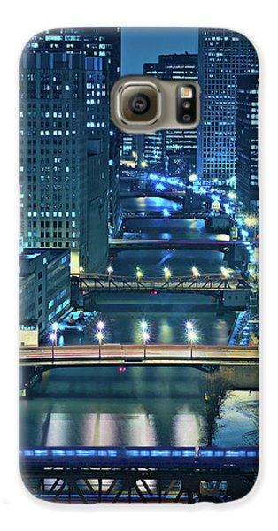 City Scenes Galaxy S6 Case - Chicago Bridges by Steve Gadomski