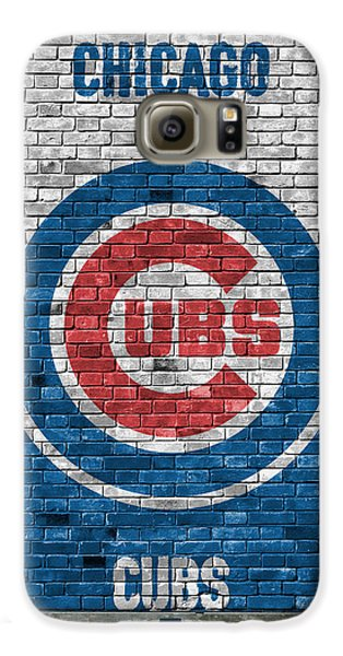 Chicago Cubs Brick Wall Galaxy S6 Case by Joe Hamilton