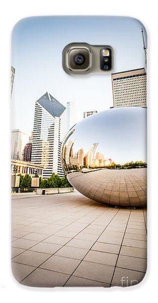 Chicago Gloud Gate And Chicago Skyline Photo Galaxy S6 Case by Paul Velgos