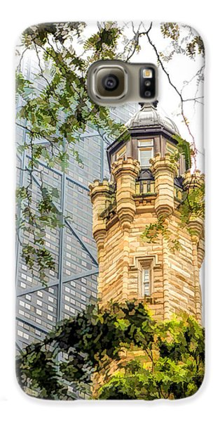 Galaxy S6 Case featuring the painting Chicago Historic Water Tower Fog by Christopher Arndt