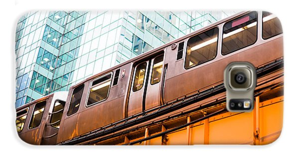 Chicago L Elevated Train  Galaxy S6 Case by Paul Velgos