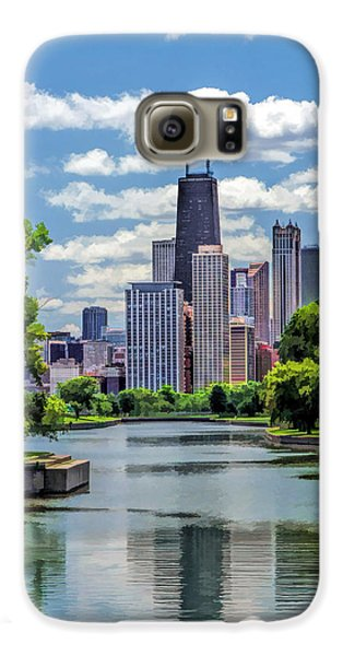 Galaxy S6 Case featuring the painting Chicago Lincoln Park Lagoon by Christopher Arndt