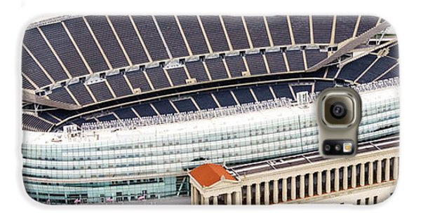 Chicago Soldier Field Aerial Photo Galaxy S6 Case by Paul Velgos