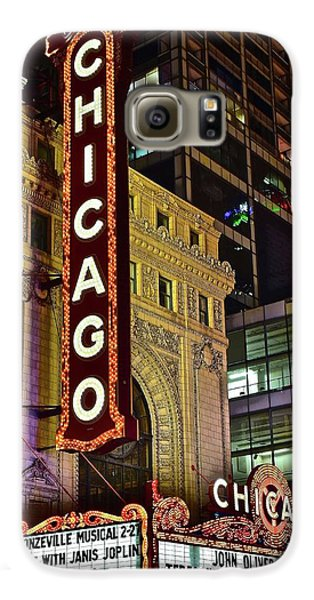 Chicago Theater Aglow Galaxy S6 Case