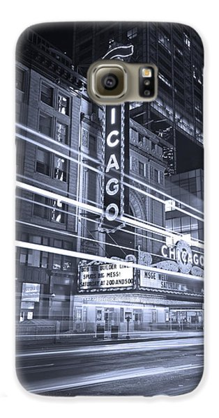 Chicago Theater Marquee B And W Galaxy S6 Case by Steve Gadomski