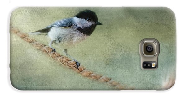 Chickadee At The Shore Galaxy S6 Case by Jai Johnson