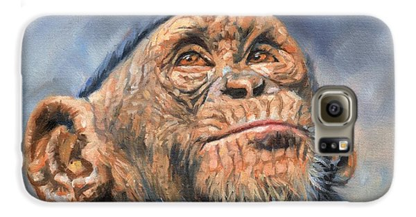 Chimp Galaxy S6 Case by David Stribbling