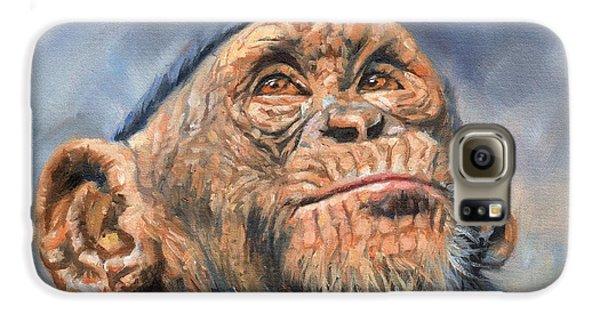 Chimp Galaxy S6 Case by David Stribbling