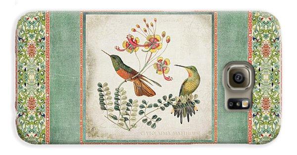 Chinoiserie Vintage Hummingbirds N Flowers 1 Galaxy S6 Case