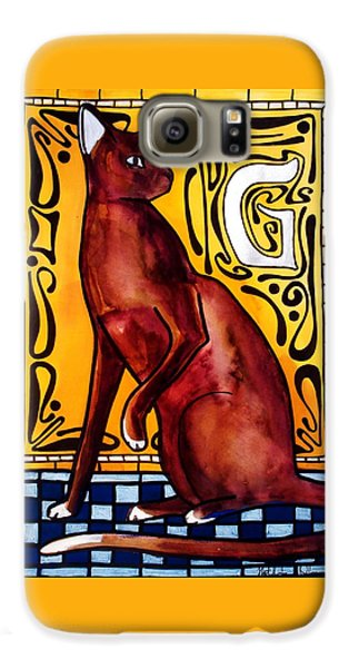 Chocolate Delight - Havana Brown Cat - Cat Art By Dora Hathazi Mendes Galaxy S6 Case