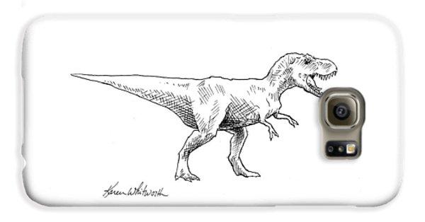 Tyrannosaurus Rex Dinosaur T-rex Ink Drawing Illustration Galaxy S6 Case
