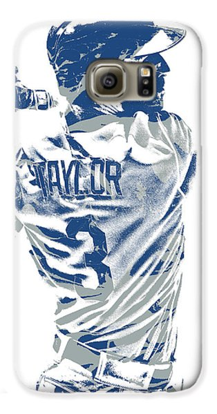 Los Angeles Dodgers Galaxy S6 Case - Chris Taylor Los Angeles Dodgers Pixel Art 5 by Joe Hamilton