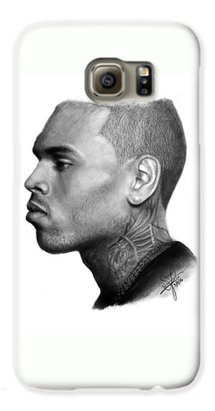 Chris Brown Drawing By Sofia Furniel Galaxy S6 Case
