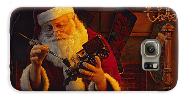Train Galaxy S6 Case - Christmas Eve Touch Up by Greg Olsen