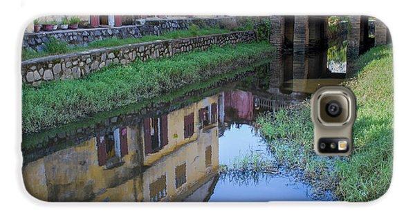 Galaxy S6 Case featuring the photograph Chua Cau Reflection by Hitendra SINKAR