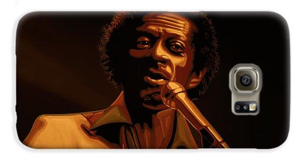 Chuck Berry Gold Galaxy S6 Case by Paul Meijering