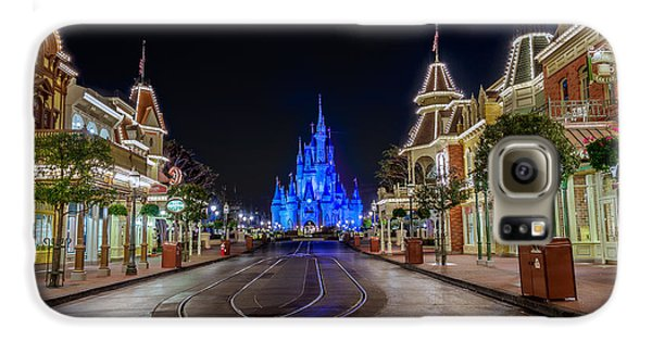Cinderella Castle Glow Over Main Street Usa Galaxy S6 Case