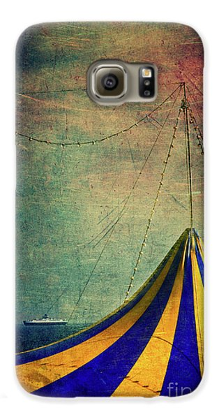 Circus With Distant Ships II Galaxy S6 Case by Silvia Ganora