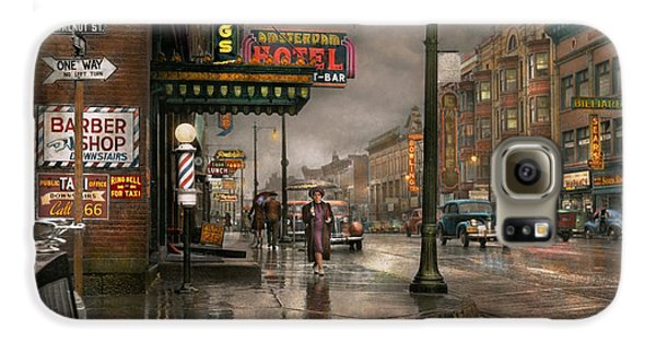 City - Amsterdam Ny -  Call 666 For Taxi 1941 Galaxy S6 Case