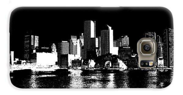 City Of Boston Skyline   Galaxy S6 Case by Enki Art