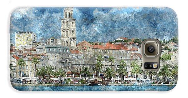 City Of Split In Croatia With Birds Flying In The Sky Galaxy S6 Case