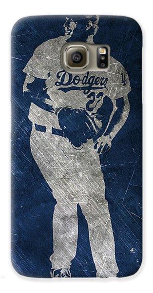 Los Angeles Dodgers Galaxy S6 Case - Clayton Kershaw Los Angeles Dodgers Art by Joe Hamilton