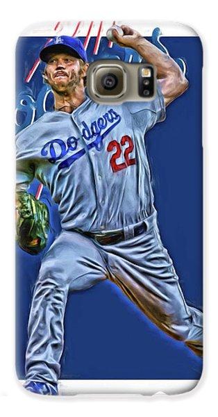 Los Angeles Dodgers Galaxy S6 Case - Clayton Kershaw Los Angeles Dodgers Oil Art by Joe Hamilton