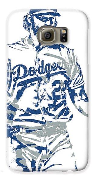 Los Angeles Dodgers Galaxy S6 Case - Clayton Kershaw Los Angeles Dodgers Pixel Art 10 by Joe Hamilton