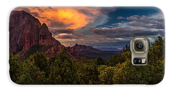 Clearing Storm Over Zion National Park Galaxy S6 Case