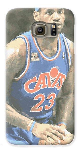 Cleveland Cavaliers Lebron James 1 Galaxy S6 Case by Joe Hamilton