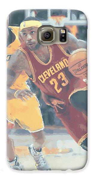 Cleveland Cavaliers Lebron James 3 Galaxy S6 Case by Joe Hamilton