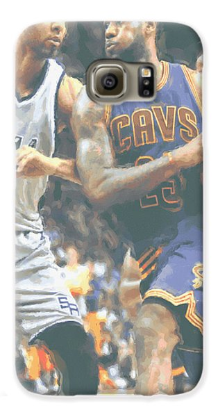 Cleveland Cavaliers Lebron James 4 Galaxy S6 Case by Joe Hamilton