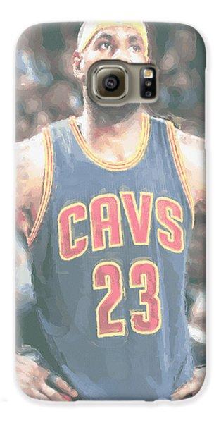 Cleveland Cavaliers Lebron James 5 Galaxy S6 Case by Joe Hamilton