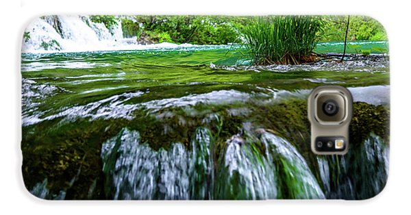 Close Up Waterfalls - Plitvice Lakes National Park, Croatia Galaxy S6 Case