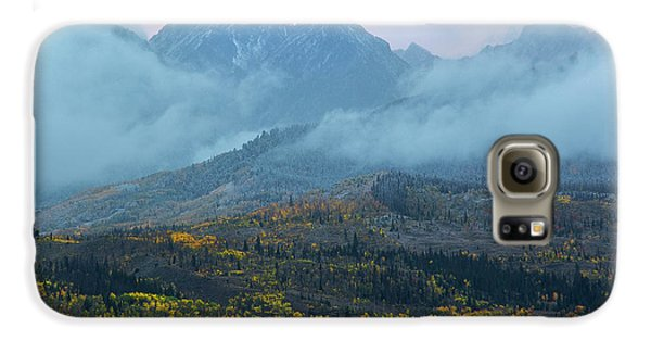 Galaxy S6 Case featuring the photograph Cloudy Peaks by Aaron Spong