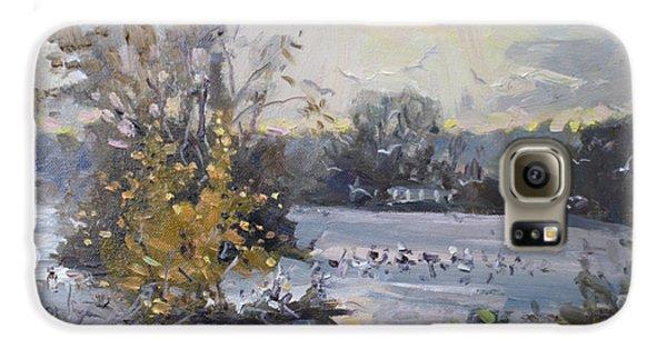Seagull Galaxy S6 Case - Cloudy Sunset In Niagara Falls River  by Ylli Haruni