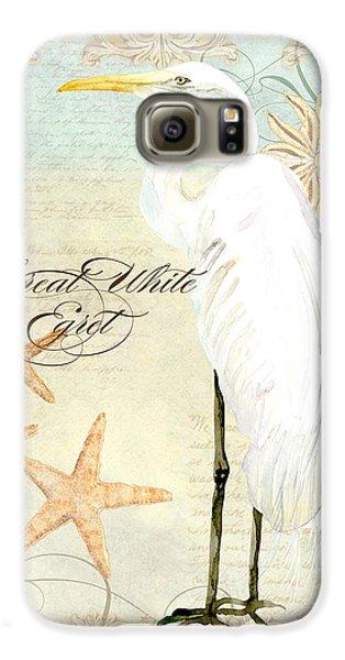 Coastal Waterways - Great White Egret 3 Galaxy S6 Case by Audrey Jeanne Roberts