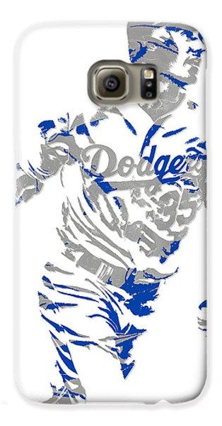 Los Angeles Dodgers Galaxy S6 Case - Cody Bellinger Los Angeles Dodgers Pixel Art 1 by Joe Hamilton